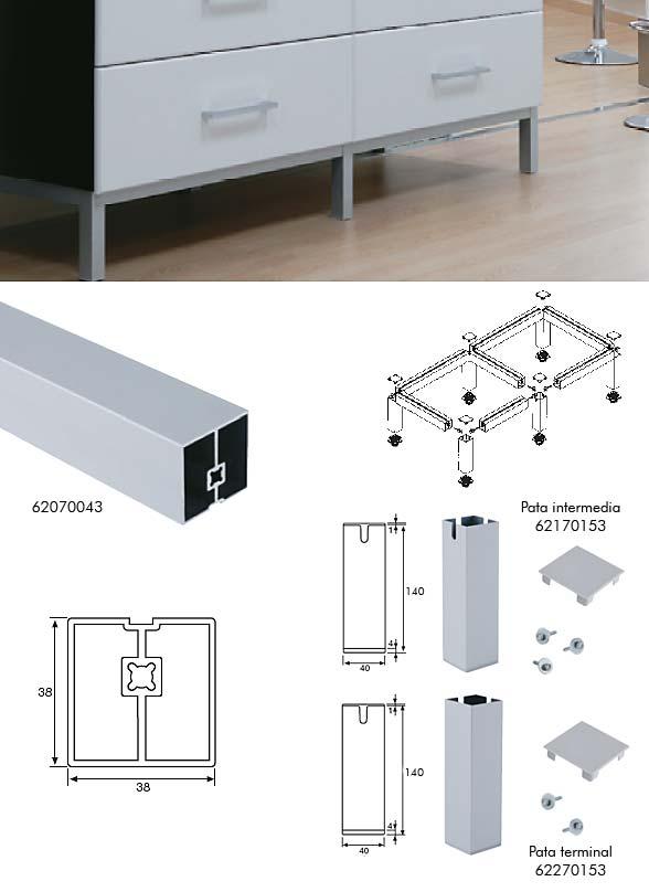 Comercial casamonte bricolaje cocinas armarios mostradores - Muebles en aluminio ...